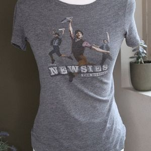 Womens Gray Newsies the Musical Graphic Tee